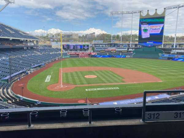 Kauffman Stadium, section: 312, row: C, seat: 15
