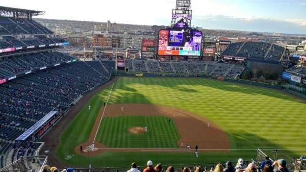Coors Field, section: U325, row: 21, seat: 18