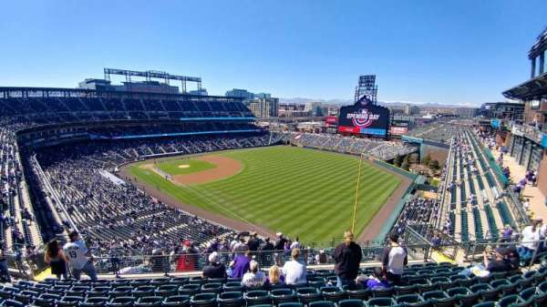 Coors Field, section: U312, row: 17, seat: 10