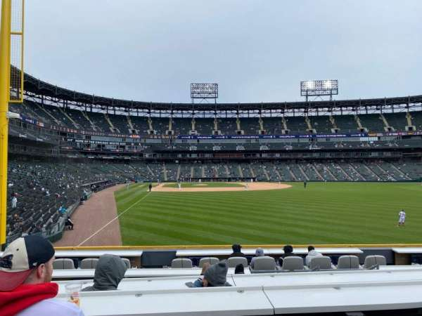 Guaranteed Rate Field, section: 107, row: G8, seat: 18