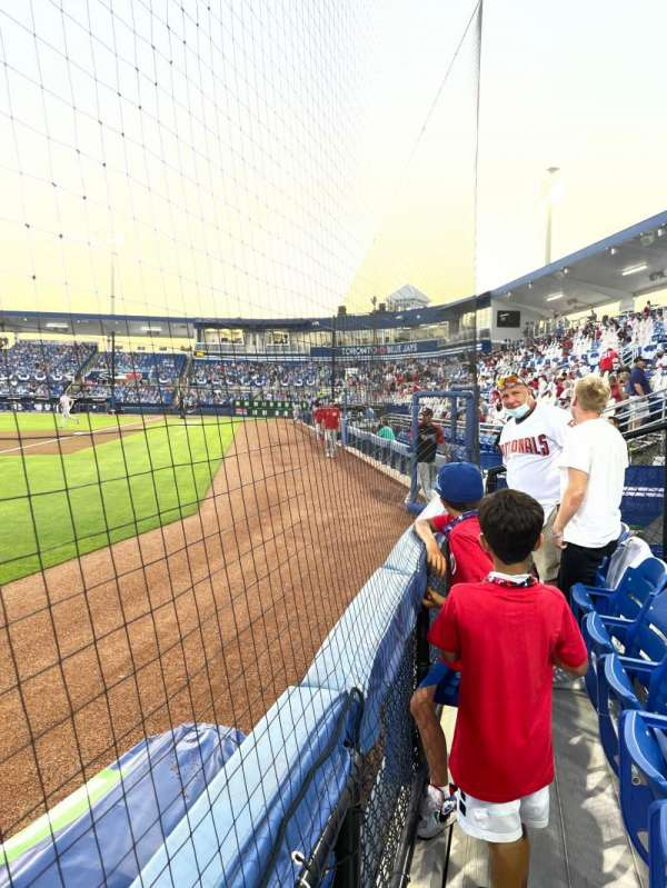 TD Ballpark, section: 114, row: 1, seat: 2
