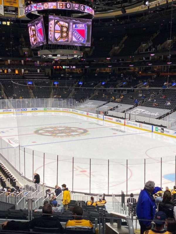 TD Garden, section: Loge 8, row: 24, seat: 3
