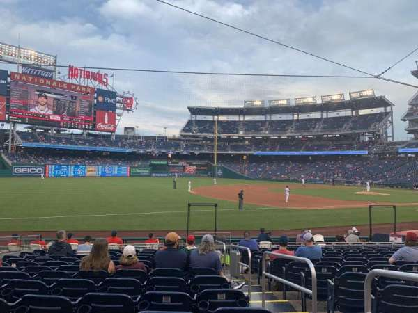 Nationals Park, section: 113, row: S, seat: 2
