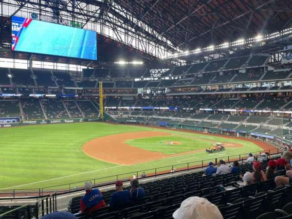 Globe Life Field, section: 106, row: 13, seat: 1