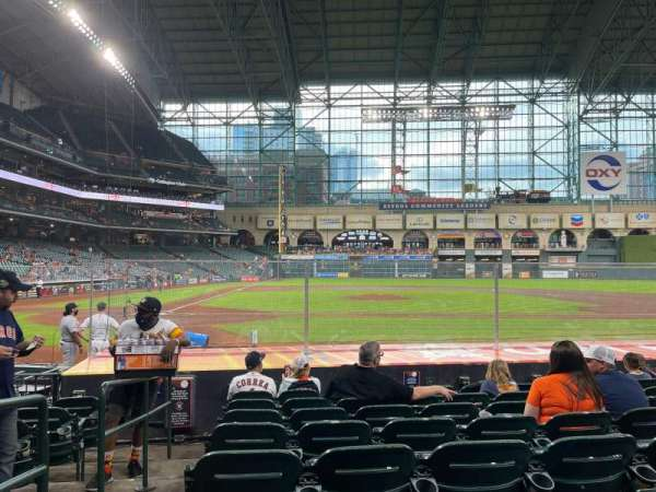 Minute Maid Park, section: 124, row: 12, seat: 1