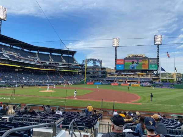 PNC Park, section: 108, row: G, seat: 23