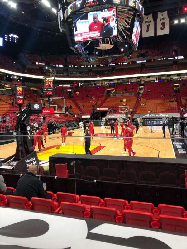 American Airlines Arena, section: 112, row: 9, seat: 7