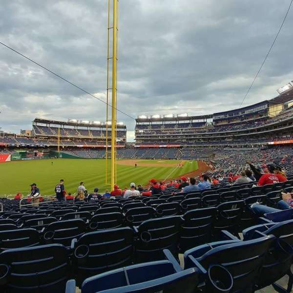 Nationals Park, section: 107, row: RR, seat: 18