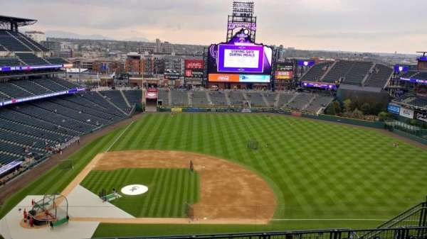 Coors Field, section: U323, row: 15, seat: 11