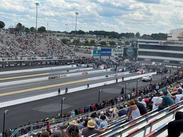 zMAX Dragway, section: N, row: 27, seat: 6