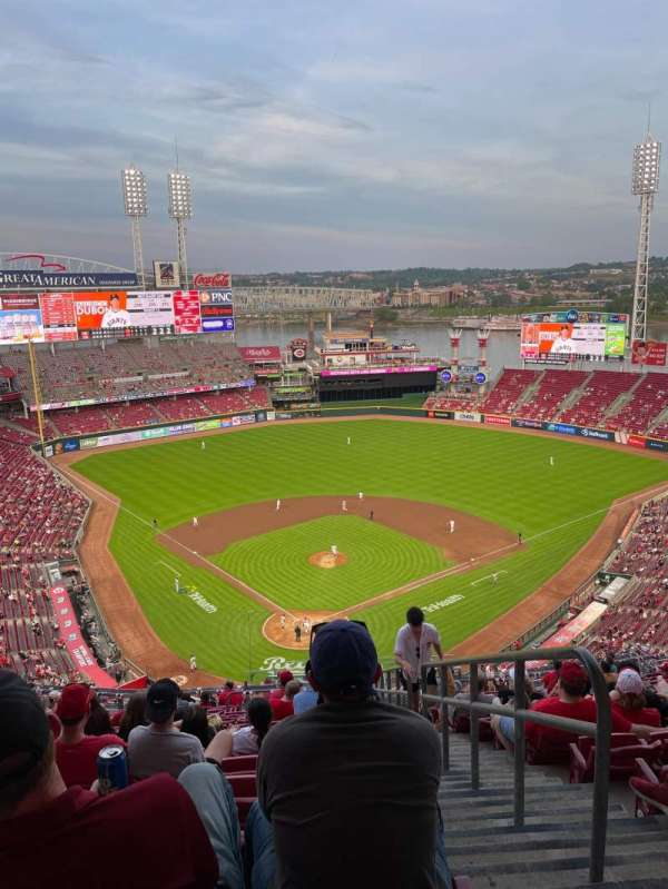 Great American Ball Park, section: 524, row: S, seat: 1