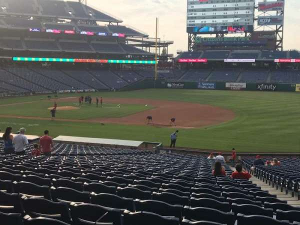 Citizens Bank Park, section: 114, row: 36, seat: 1