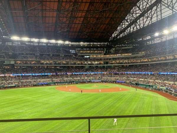 Globe Life Field, section: 138, row: 2, seat: 6