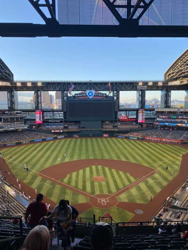 Chase Field, section: 316, row: 18, seat: 25