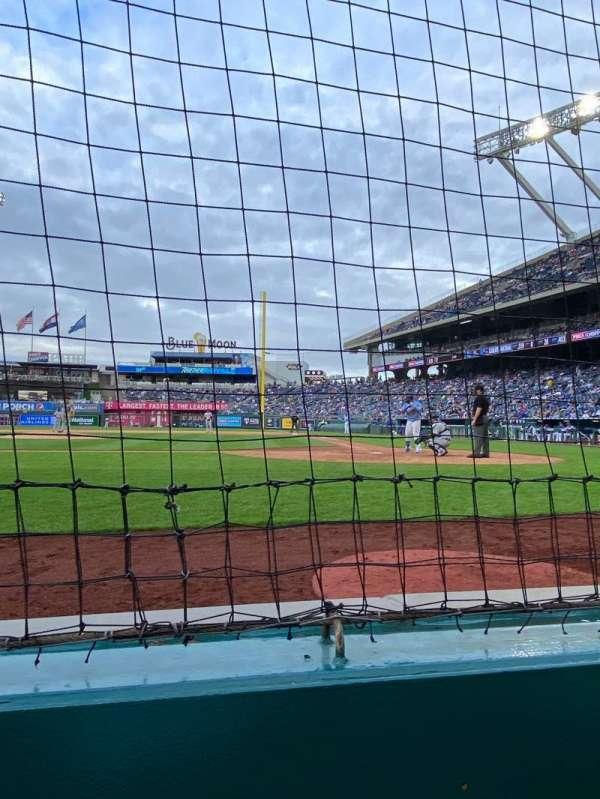 Kauffman Stadium, section: Crown 1, row: A, seat: 4