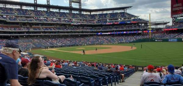 Citizens Bank Park, section: 110, row: 30, seat: 18
