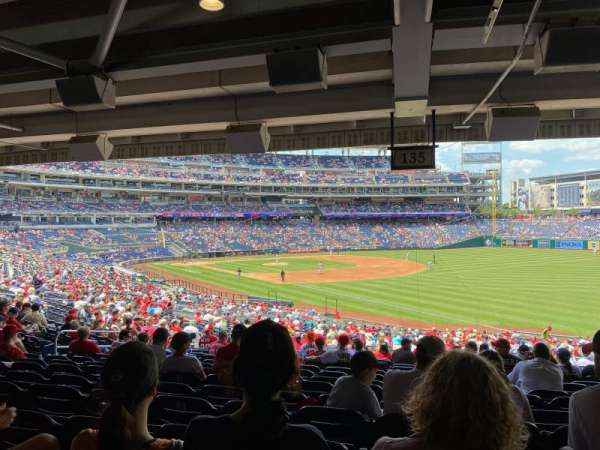 Nationals Park, section: 135, row: VV, seat: 12