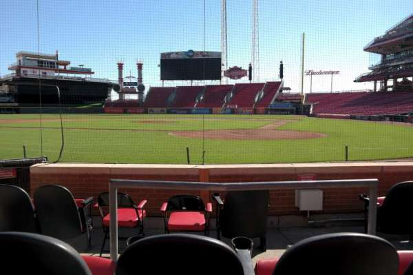 Great American Ball Park, section: 1, row: E, seat: 3