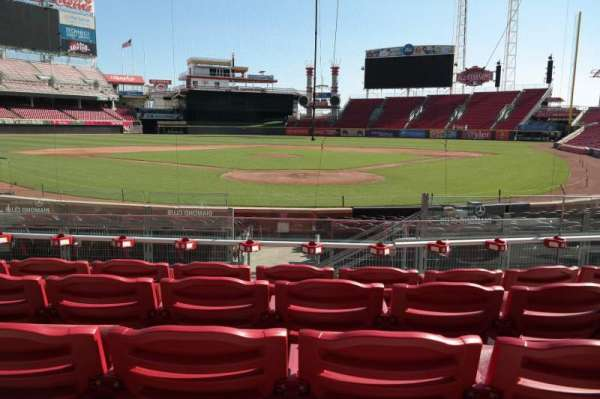 Great American Ball Park, section: 22, row: E, seat: 6