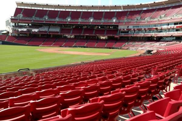 Great American Ball Park, section: 109, row: AA, seat: 10