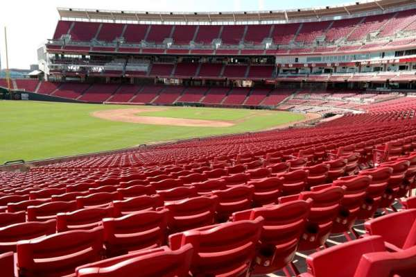 Great American Ball Park, section: 109, row: LL, seat: 10