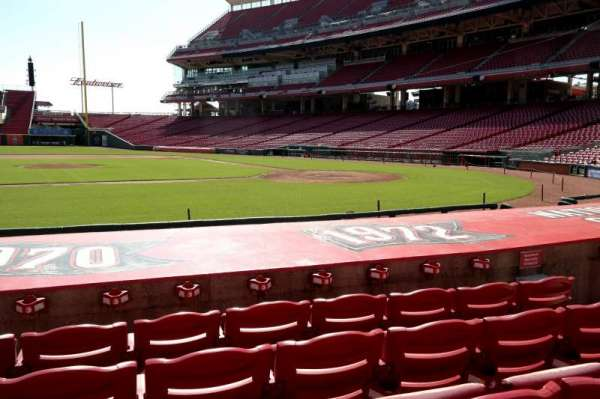 Great American Ball Park, section: 117, row: I, seat: 7