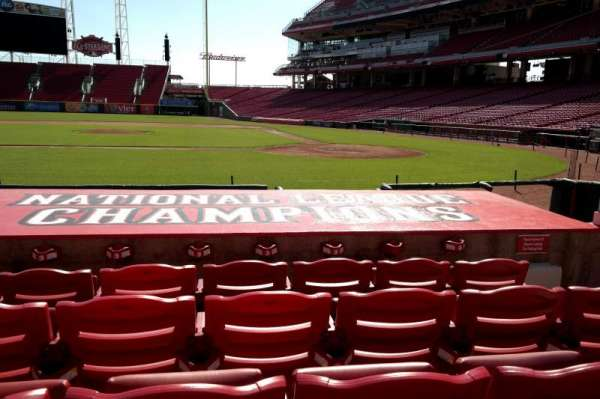 Great American Ball Park, section: 118, row: I, seat: 5