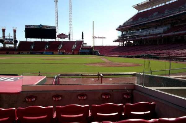Great American Ball Park, section: 119, row: I, seat: 3