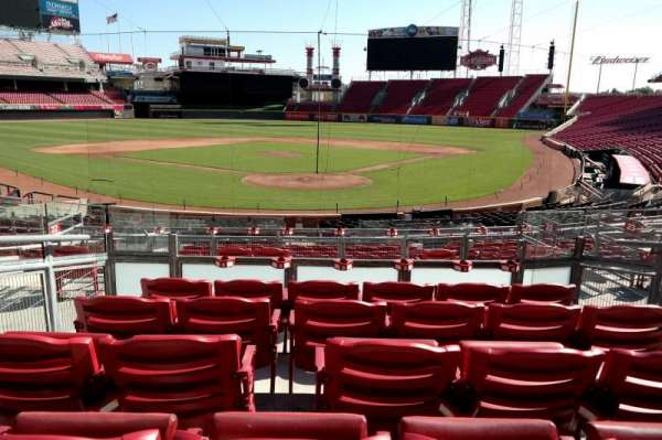 Great American Ball Park, section: 122, row: E, seat: 6