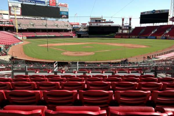 Great American Ball Park, section: 124, row: G, seat: 7