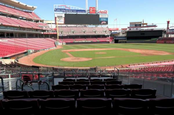 Great American Ball Park, section: 126, row: G, seat: 4
