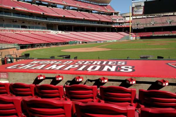 Great American Ball Park, section: 128, row: I, seat: 5