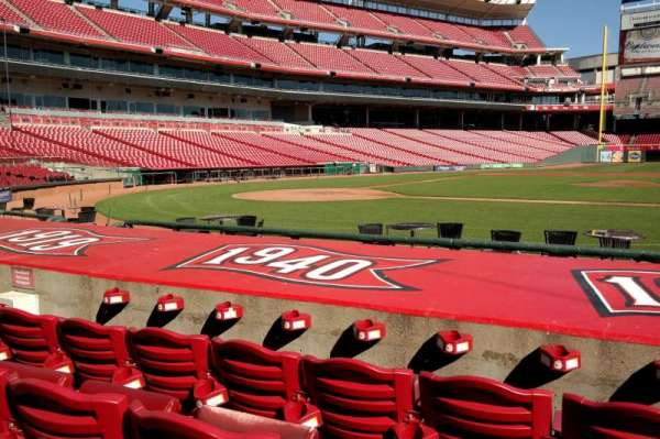 Great American Ball Park, section: 129, row: I, seat: 8