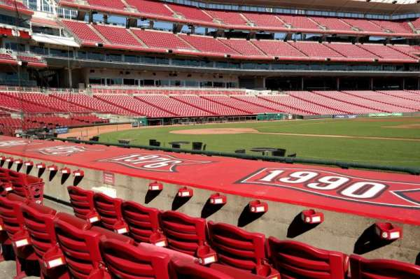 Great American Ball Park, section: 130, row: I, seat: 8
