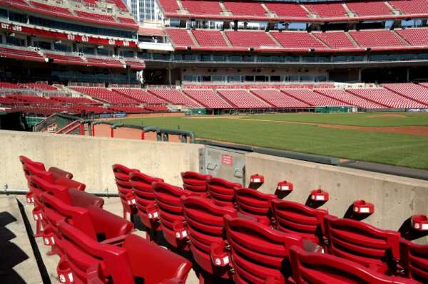Great American Ball Park, section: 132, row: D, seat: 8