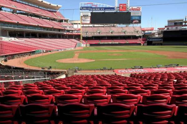 Great American Ball Park, section: 127, row: X, seat: 7