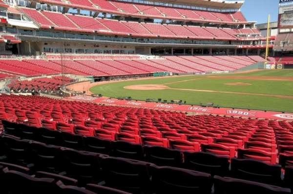 Great American Ball Park, section: 130, row: Y, seat: 8