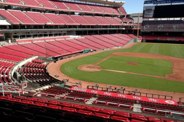 Great American Ball Park, section: 302, row: G, seat: 8