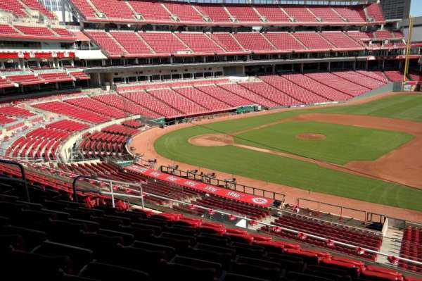 Great American Ball Park, section: 304, row: H, seat: 10