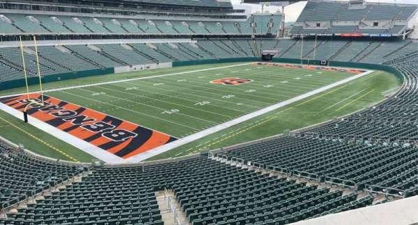 Paul Brown Stadium, section: 248, row: 2, seat: 5