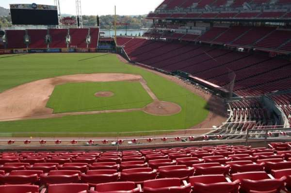 Great American Ball Park, section: 418, row: H, seat: 9