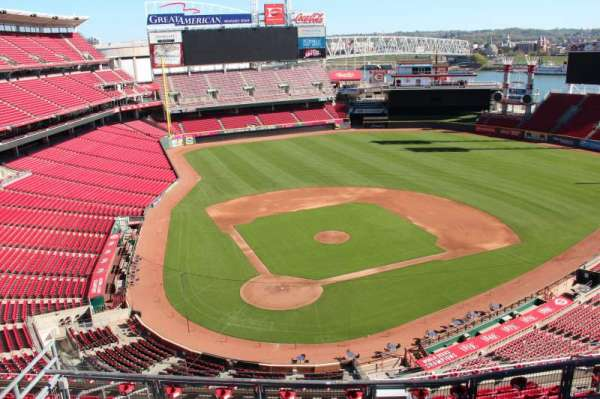 Great American Ball Park, section: 526, row: a, seat: 9