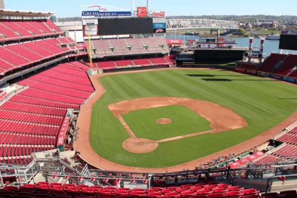 Great American Ball Park, section: 526, row: l, seat: 10