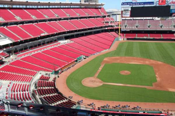 Great American Ball Park, section: 529, row: A, seat: 10