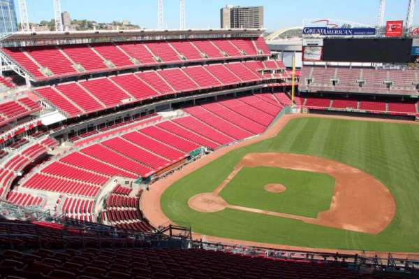 Great American Ball Park, section: 530, row: t, seat: 11