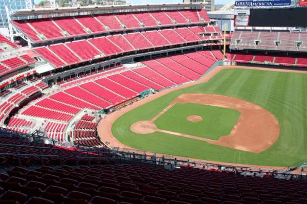 Great American Ball Park, section: 531, row: s, seat: 12
