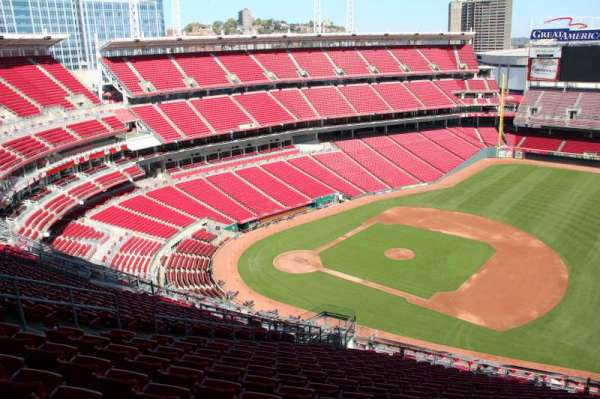 Great American Ball Park, section: 533, row: s, seat: 12