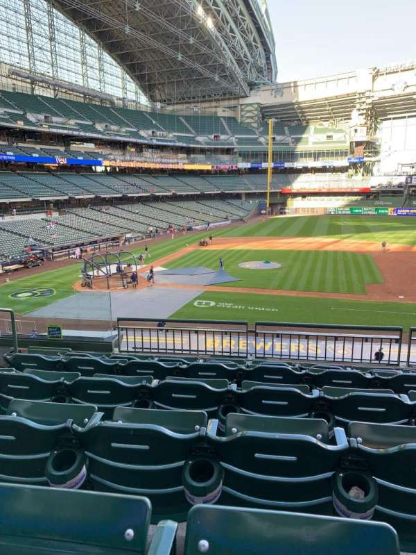 American Family Field, section: 213, row: 6, seat: 5