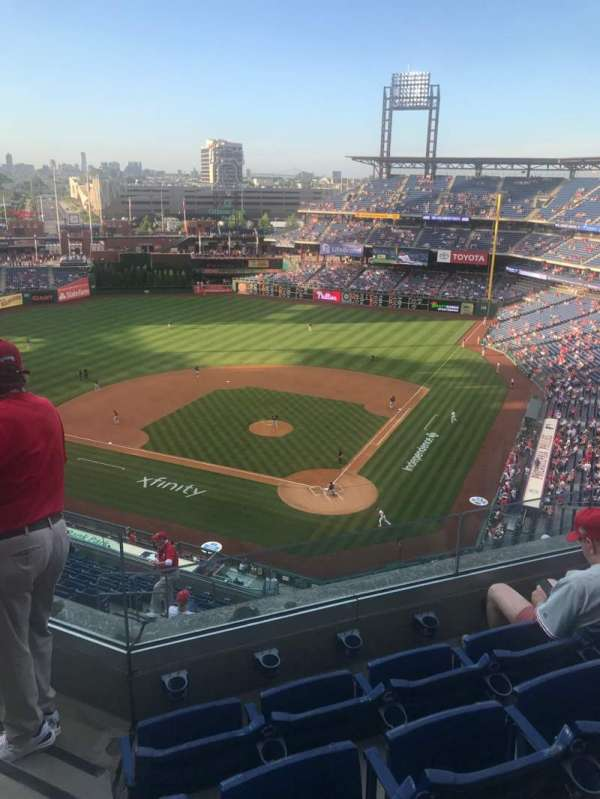 Citizens Bank Park, section: 422, row: 4, seat: 23