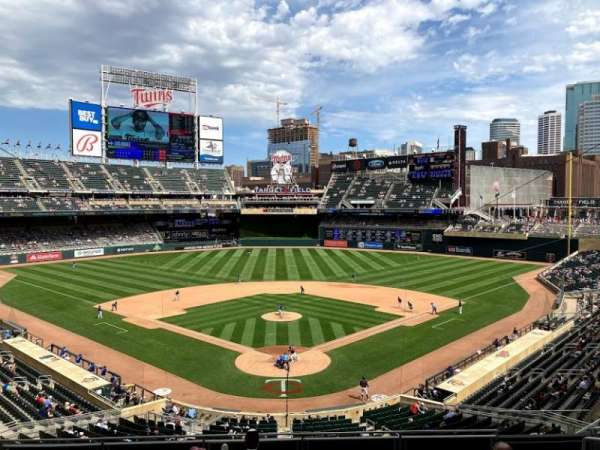 Target Field, section: H, row: 7, seat: 7
